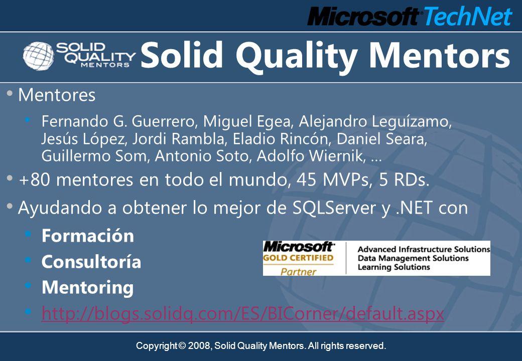 Copyright © 2008, Solid Quality Mentors. All rights reserved. Despliegue Instalación Modular