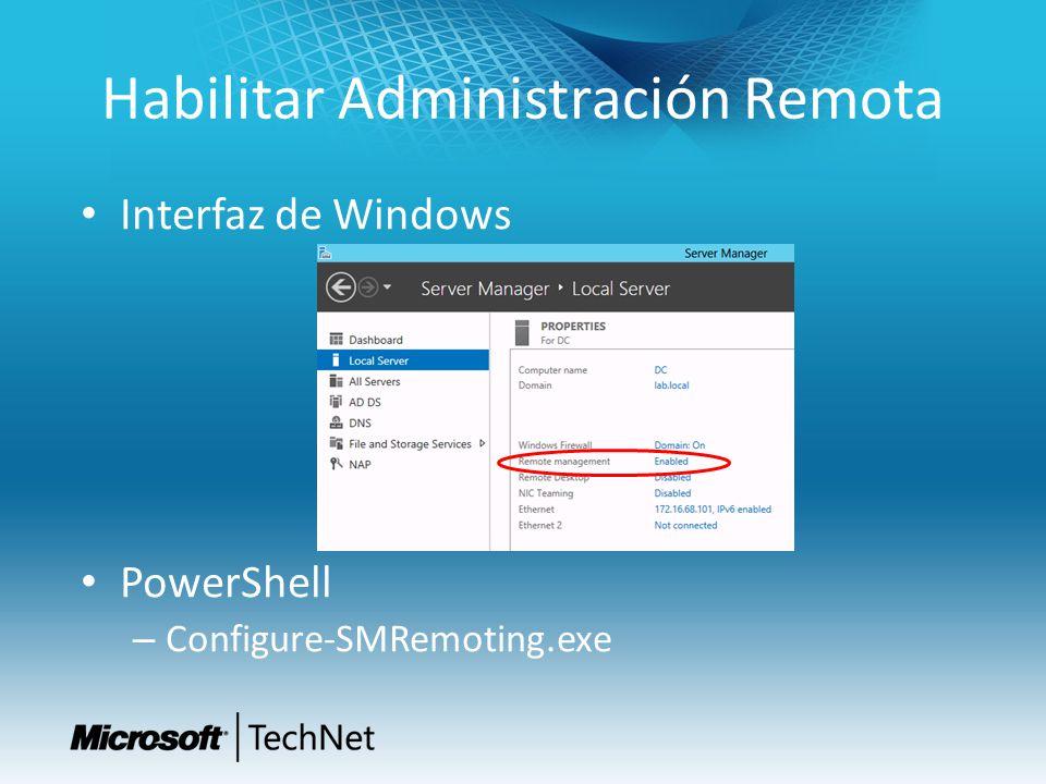 Habilitar Administración Remota Interfaz de Windows PowerShell – Configure-SMRemoting.exe