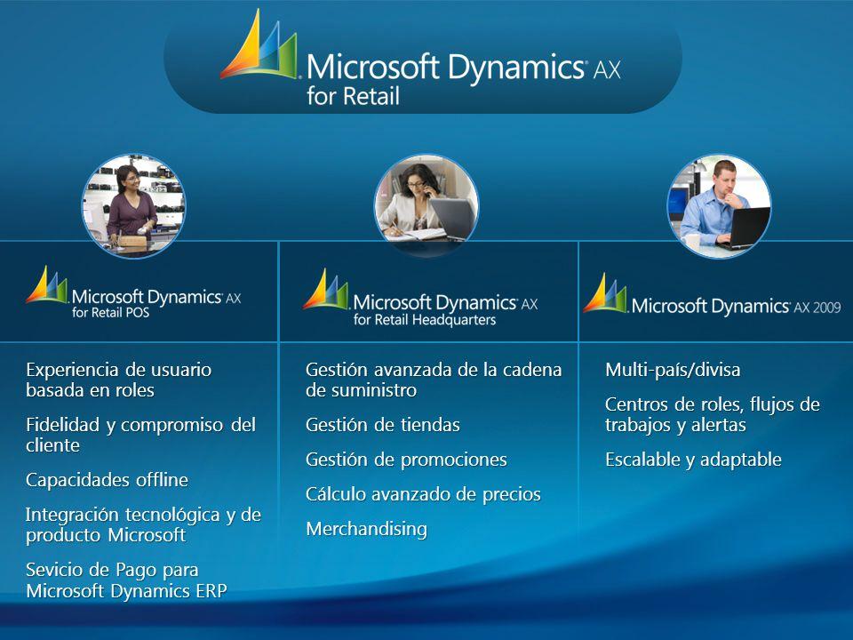 Experiencia de usuario basada en roles Fidelidad y compromiso del cliente Capacidades offline Integración tecnológica y de producto Microsoft Sevicio