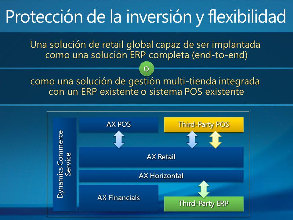 Una solución de retail global capaz de ser implantada como una solución ERP completa (end-to-end) como una solución de gestión multi-tienda integrada