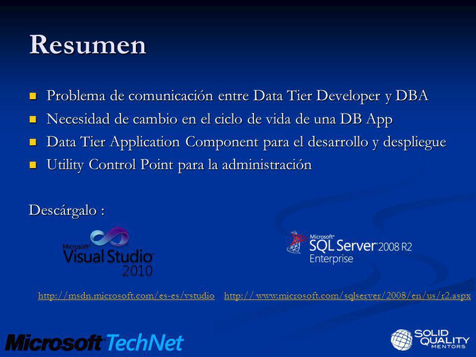 Resumen Problema de comunicación entre Data Tier Developer y DBA Problema de comunicación entre Data Tier Developer y DBA Necesidad de cambio en el ci