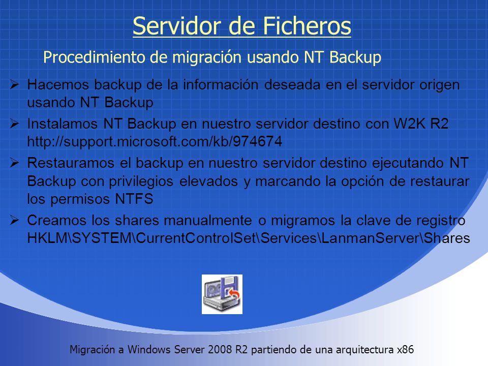 Migración a Windows Server 2008 R2 partiendo de una arquitectura x86.