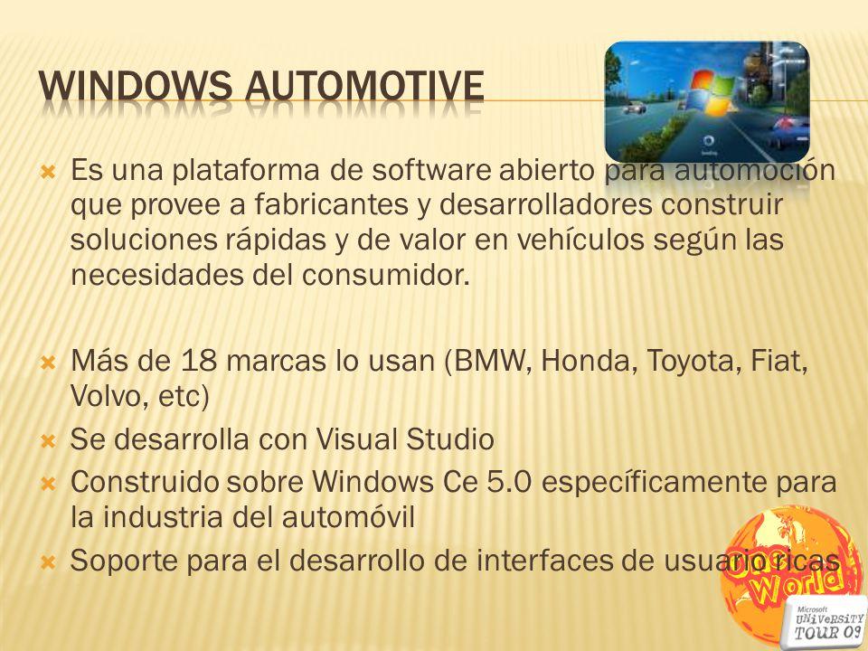 Es una plataforma de software abierto para automoción que provee a fabricantes y desarrolladores construir soluciones rápidas y de valor en vehículos