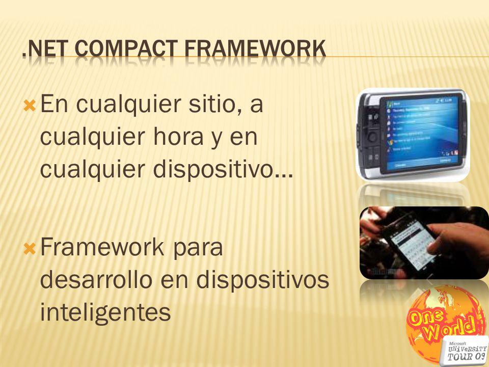 En cualquier sitio, a cualquier hora y en cualquier dispositivo… Framework para desarrollo en dispositivos inteligentes