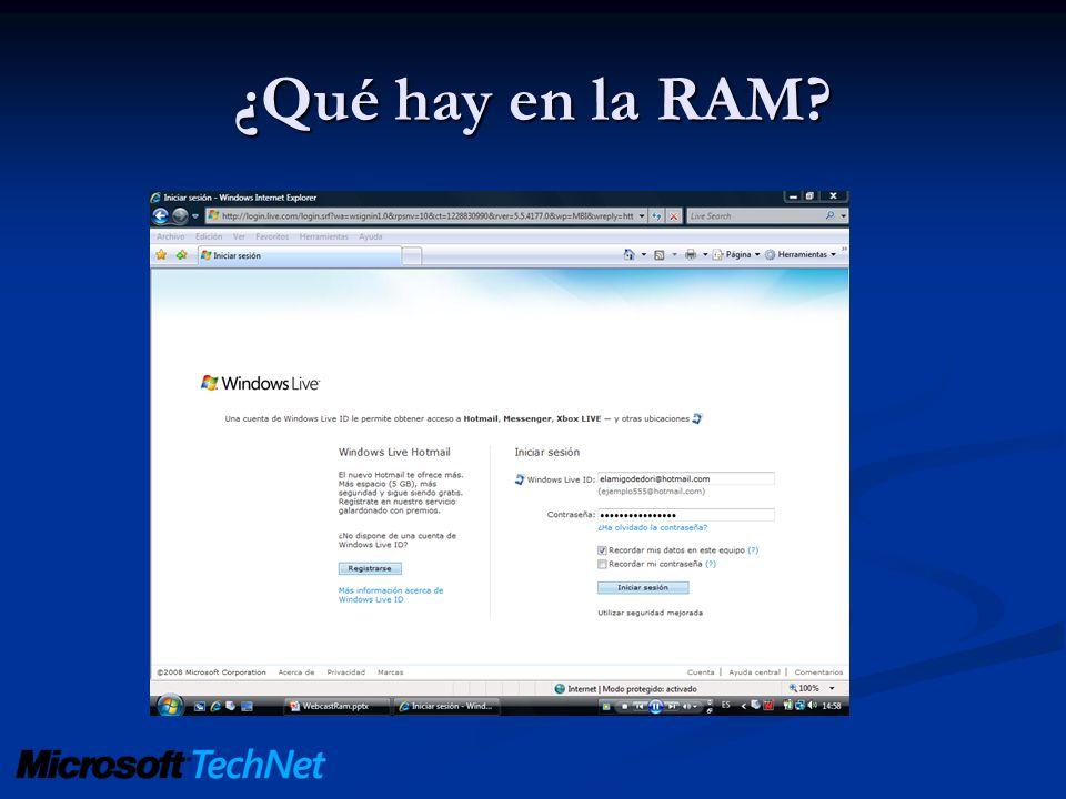 ¿Qué hay en la RAM?