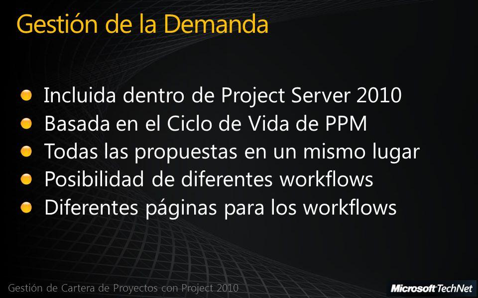 Gestión de Cartera de Proyectos con Project 2010 Gestión de la Demanda