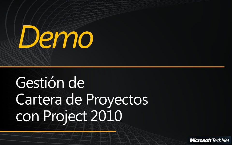 Demo Gestión de Cartera de Proyectos con Project 2010