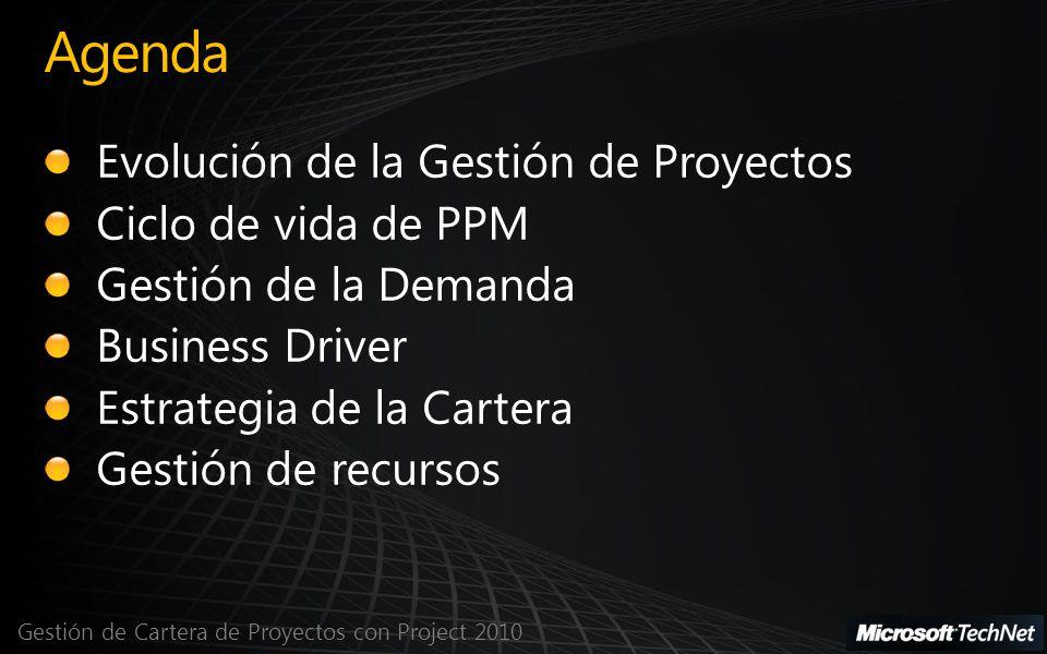 Gestión de Cartera de Proyectos con Project 2010 Agenda