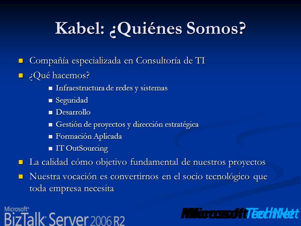 Kabel: ¿Quiénes Somos? Compañía especializada en Consultoría de TI Compañía especializada en Consultoría de TI ¿Qué hacemos? ¿Qué hacemos? Infraestruc