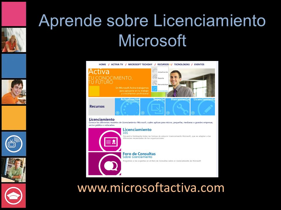 Aprende sobre Licenciamiento Microsoft www.microsoftactiva.com