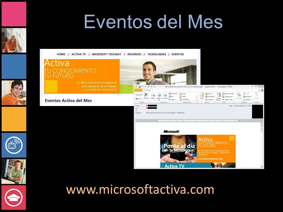 Eventos del Mes www.microsoftactiva.com