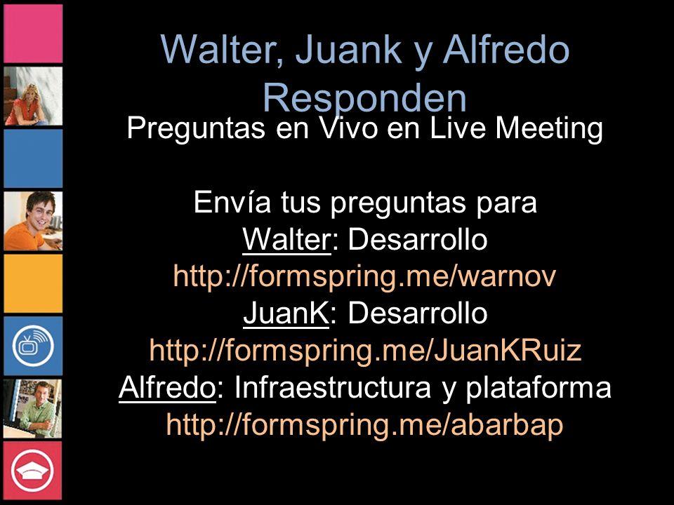 Interoperabilidad y Open Source con Windwos Azure Juan Carlos Ruiz Developer Evangelist http://blogs.msdn.com/juank Walter Novoa Developer Evangelist http://blogs.msdn.com/warnov