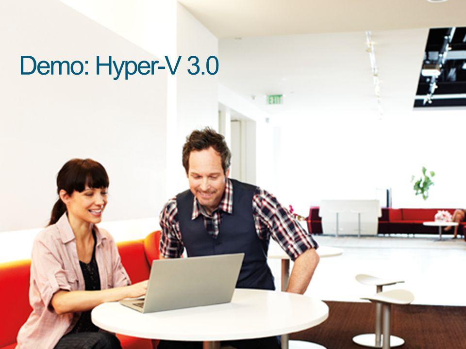 Demo: Hyper-V 3.0