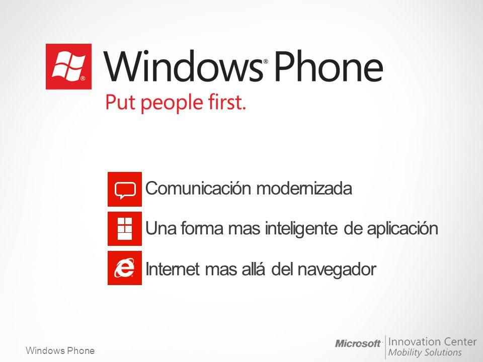 Windows Phone Internet mas allá del navegador.