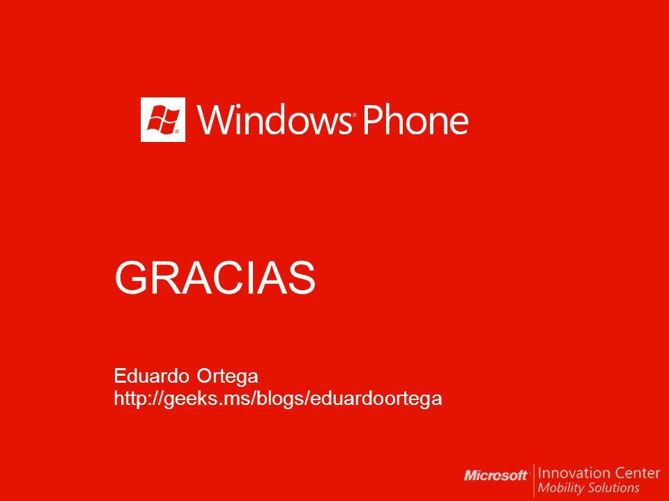 GRACIAS Eduardo Ortega http://geeks.ms/blogs/eduardoortega