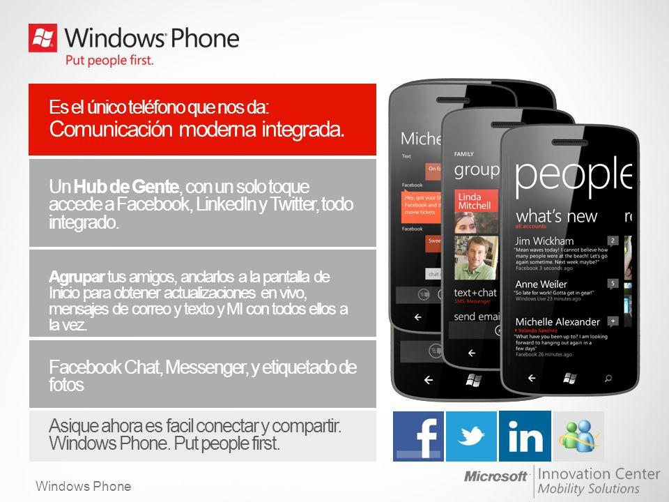 Windows Phone Aplicaciones Anclar las aplicaciones al Inicio para ver sus actualizaciones en tiempo real de un vistazo.