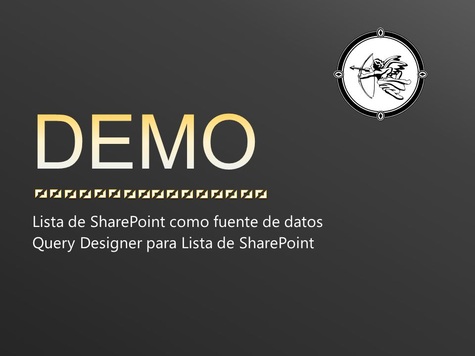 Lista de SharePoint como fuente de datos Query Designer para Lista de SharePoint