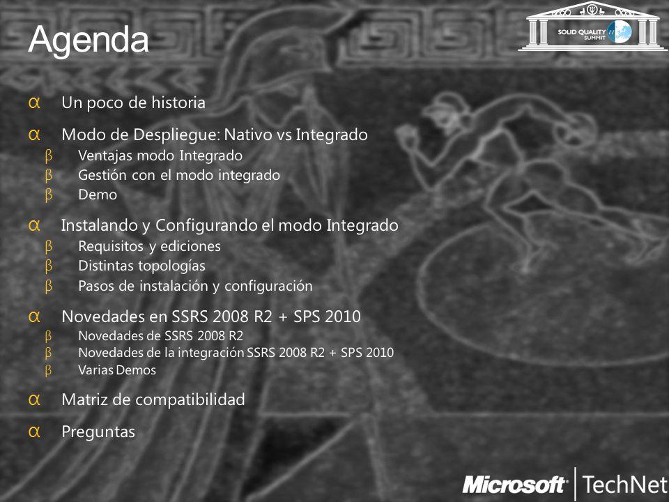 Novedades en SSRS 2008 R2 + SharePoint 2010
