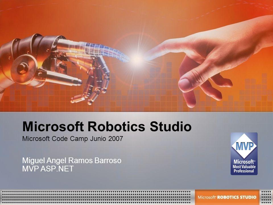 Microsoft Robotics Studio Miguel Angel Ramos Barroso MVP ASP.NET Microsoft Code Camp Junio 2007