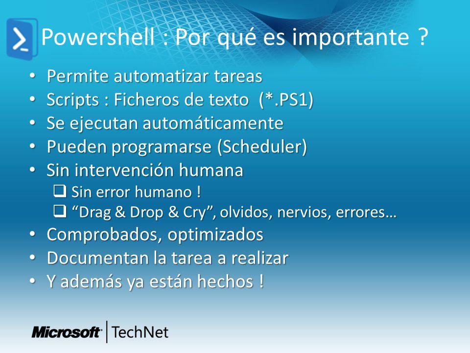 Powershell : Por qué es importante .