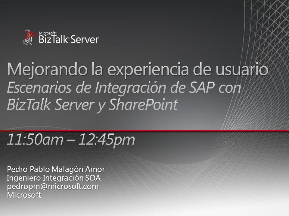 Introducción Agenda Soluciones con Adaptador SAP de BizTalk Server Conclusiones