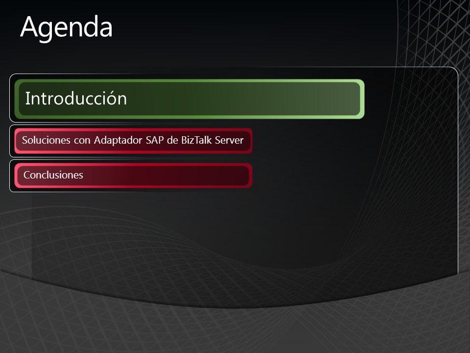 Agenda Introducción Soluciones con Adaptador SAP de BizTalk Server Conclusiones