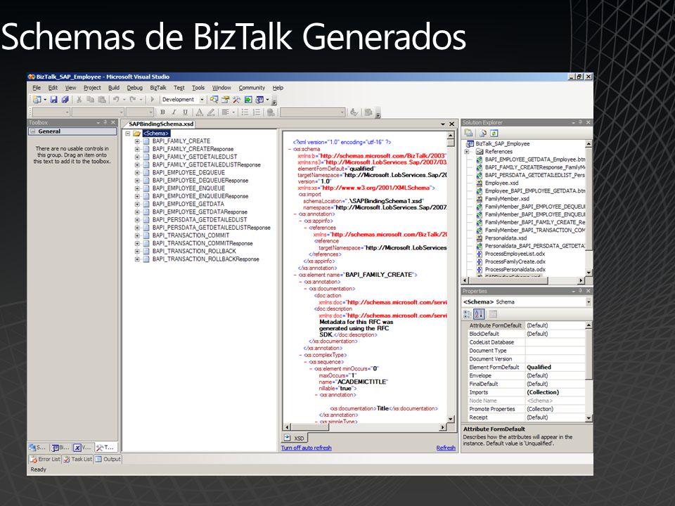 Schemas de BizTalk Generados