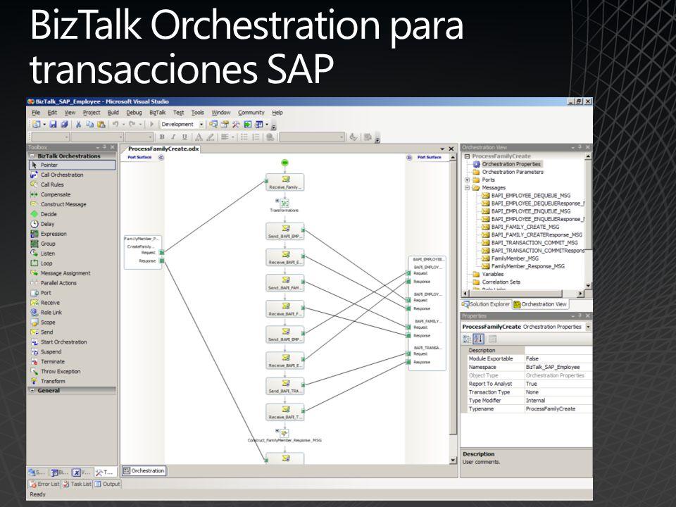 BizTalk Orchestration para transacciones SAP