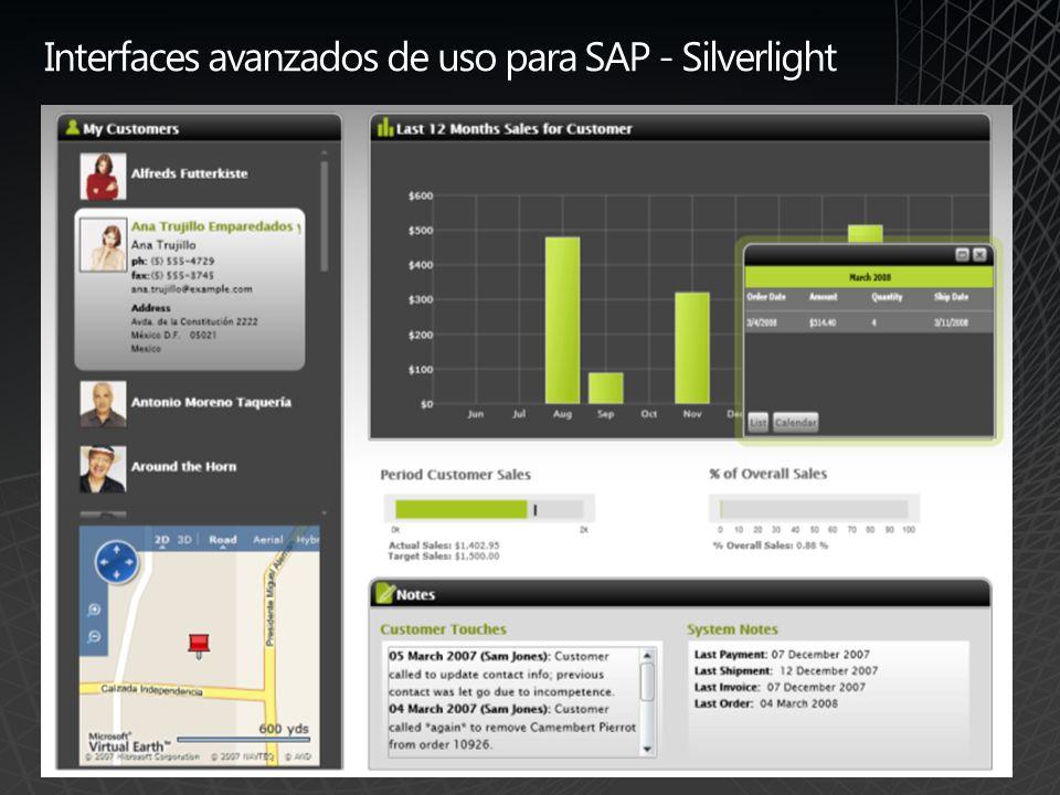 Interfaces avanzados de uso para SAP / WPF