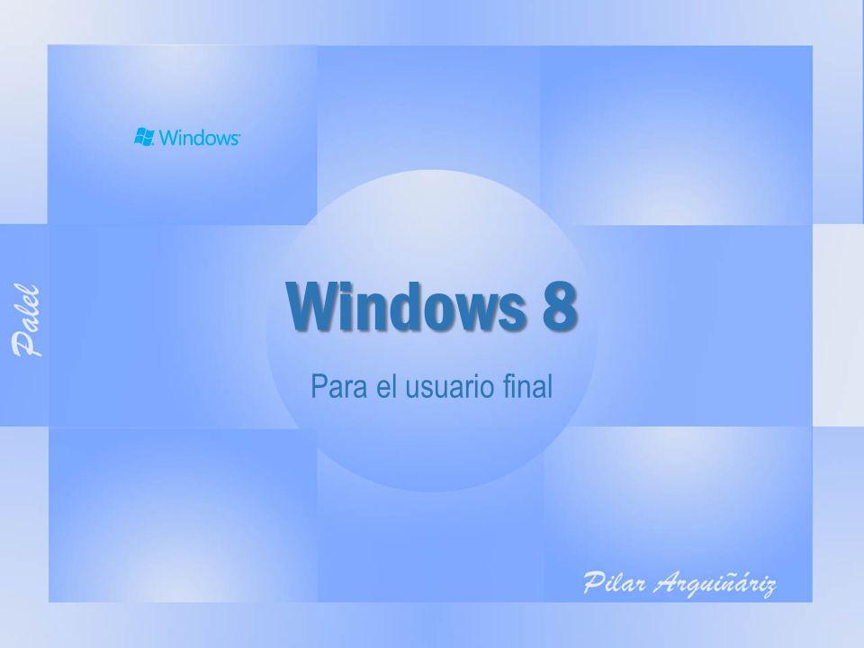 Windows 8 – Interfaz Modern UI Windows 8 - Usuario final - 18 de abril del 2013 - Pilar Arguiñáriz [PALEL]2 USUARIO APLICACIONES TILES (Mosaicos) ZOOM