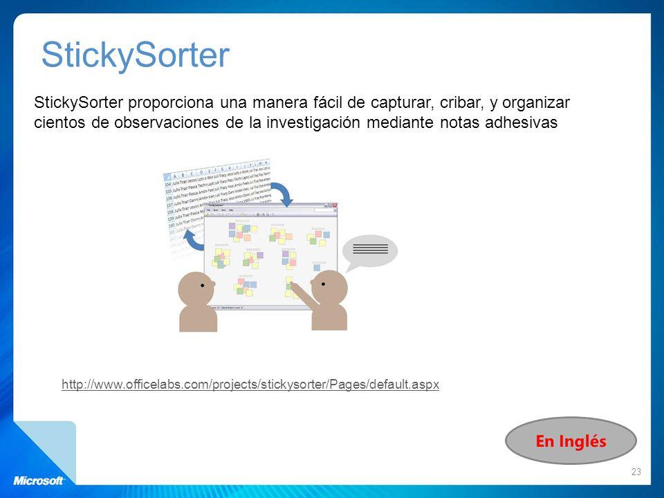 StickySorter proporciona una manera fácil de capturar, cribar, y organizar cientos de observaciones de la investigación mediante notas adhesivas 23 ht