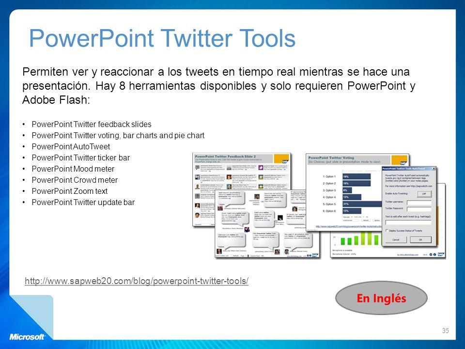 Permiten ver y reaccionar a los tweets en tiempo real mientras se hace una presentación. Hay 8 herramientas disponibles y solo requieren PowerPoint y