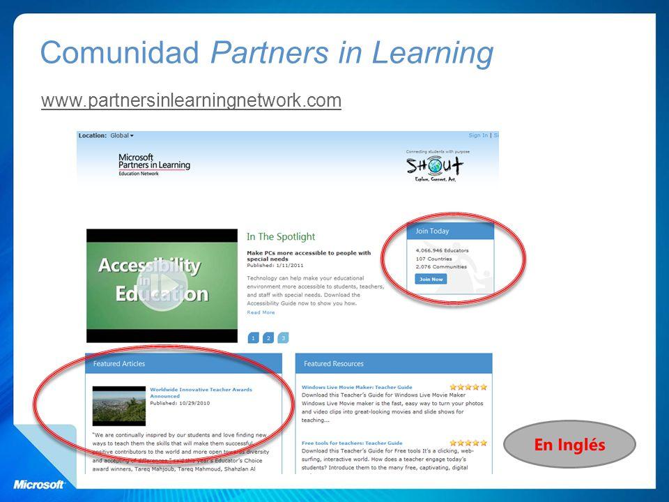 Comunidad Partners in Learning www.partnersinlearningnetwork.com