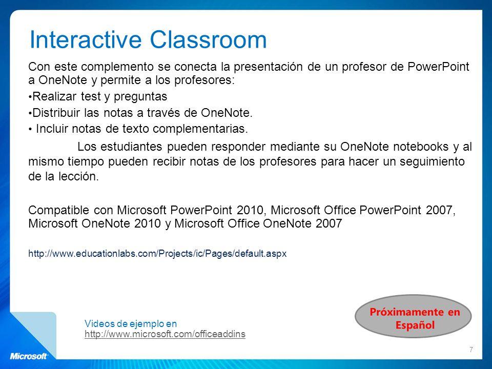 Seminarios Online en castellano Suscríbete al Boletín mensual de Partners in Learning para recibir las novedades y actividades que organizamos en España: https://profile.microsoft.com/RegSysProfileCenter/wizard.aspx?wizid=f3f43819-6681-4424-bfa8- d225f940f19a&lcid=1034 Accede a todos los seminarios grabados: www.microsoft.es/educacion/formacion