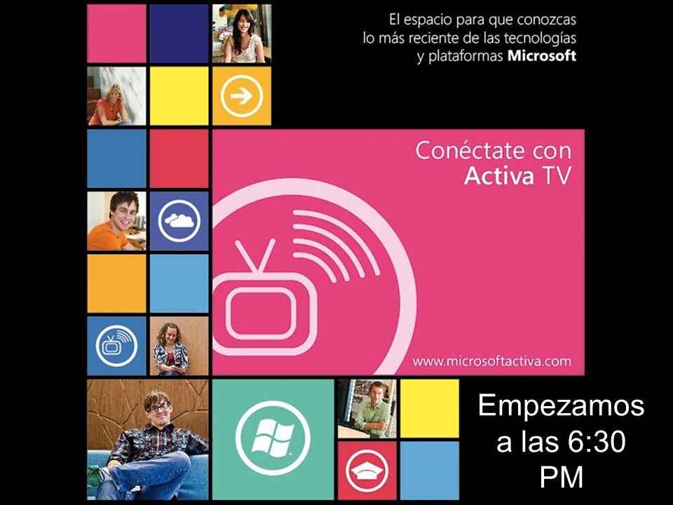 Para que disfrutes toda la experiencia Activa TV Activa el Video Principal y el Video Panorámico En el menú Voz y Video de la consola de Live Meeting Por favor, pongan sus micrófonos en silencio (mute)