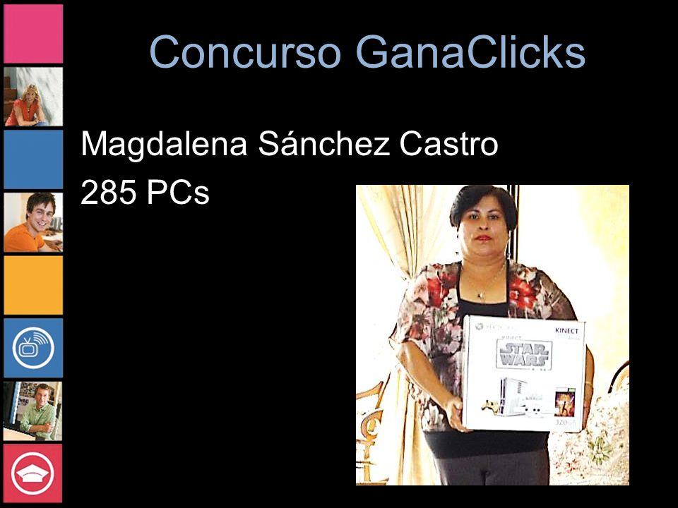 Concurso GanaClicks Magdalena Sánchez Castro 285 PCs