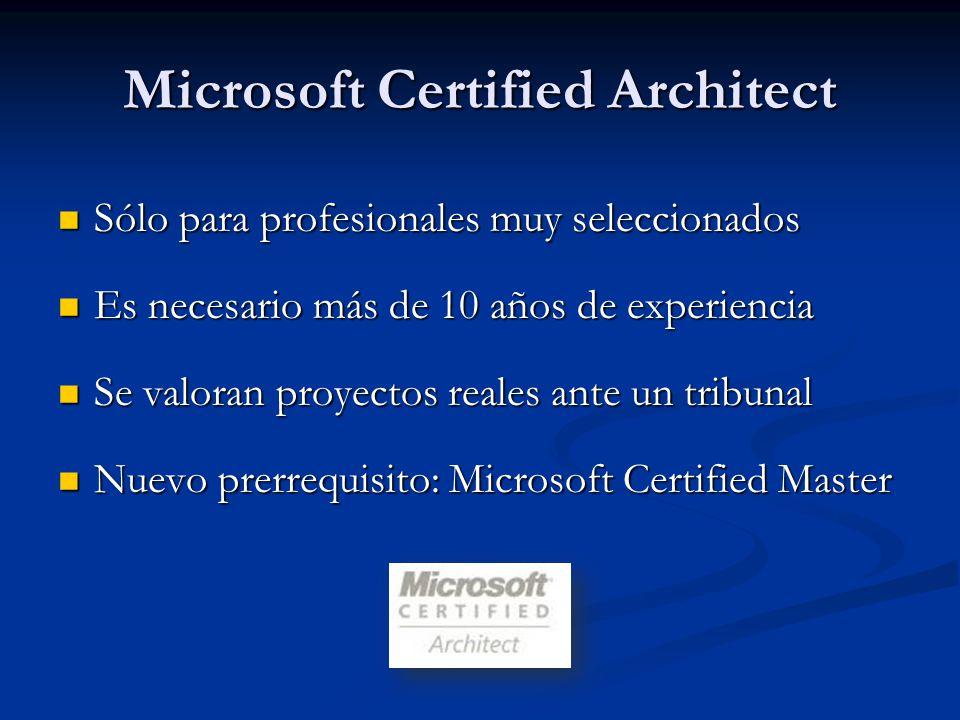 Certificaciones por Tecnología SQL Server 2005 SQL Server 2005