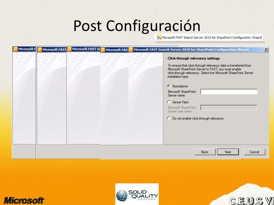 Post Configuración