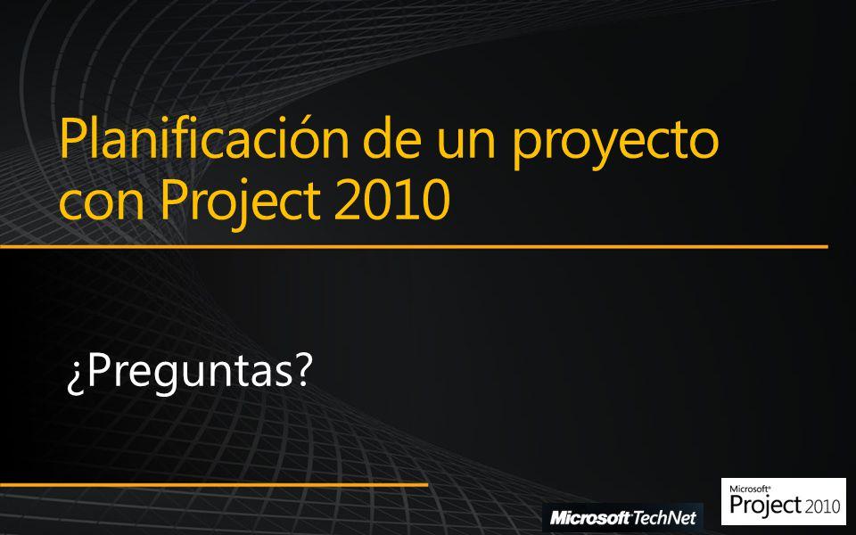 Planificación de un proyecto con Project 2010