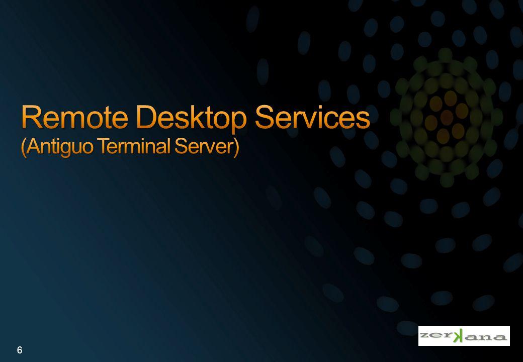 App-V Escritorios Cliente: Asegura Caché del tamaño necesario Clientes Terminal Server: Software en cliente terminal server es pre-cacheado para asegurar rendimiento.