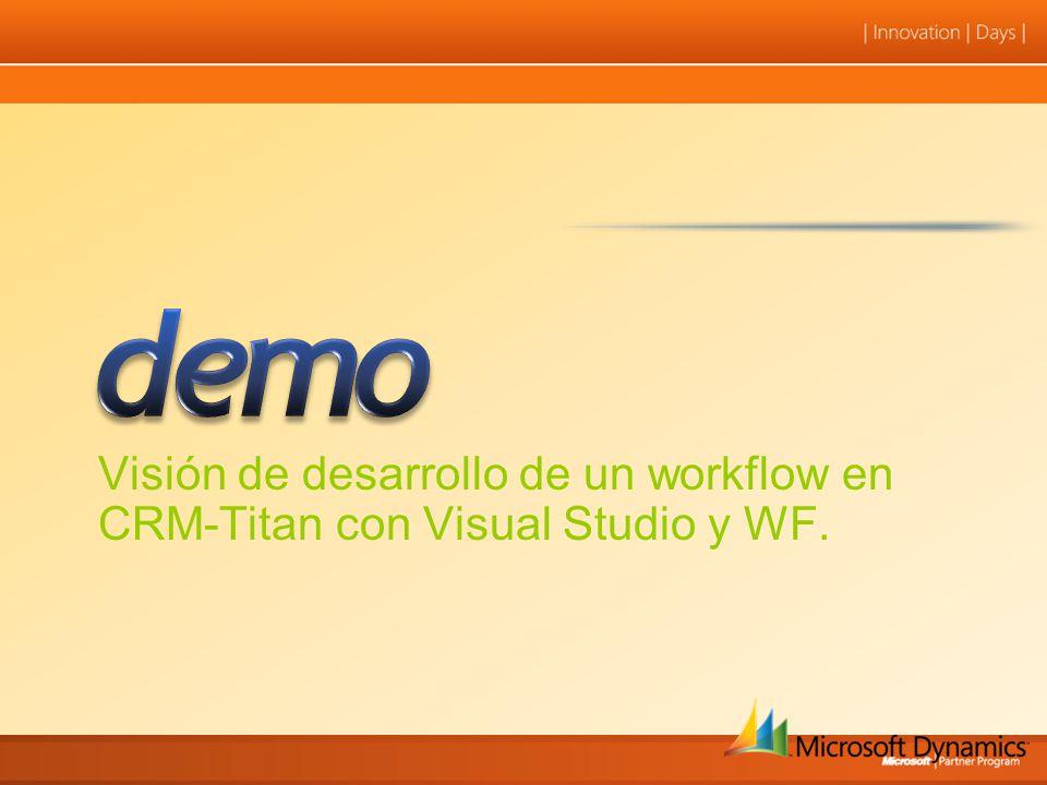 Visión de desarrollo de un workflow en CRM-Titan con Visual Studio y WF.