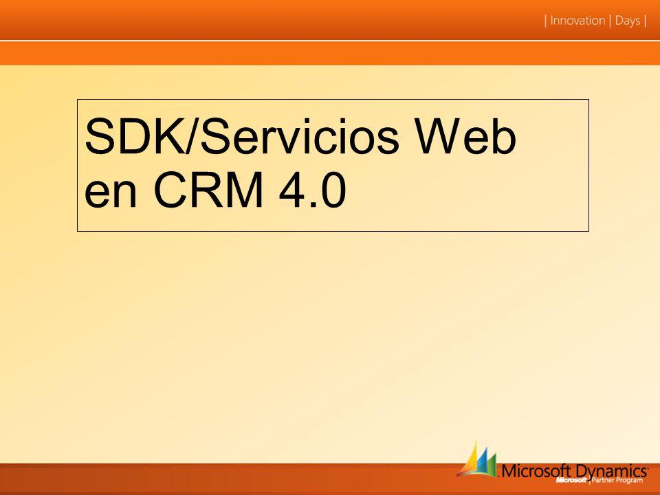 SDK/Servicios Web en CRM 4.0