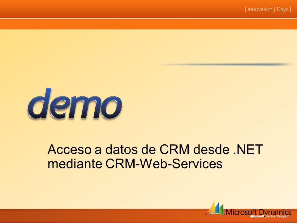 Acceso a datos de CRM desde.NET mediante CRM-Web-Services