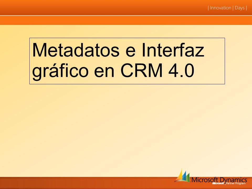 Metadatos e Interfaz gráfico en CRM 4.0