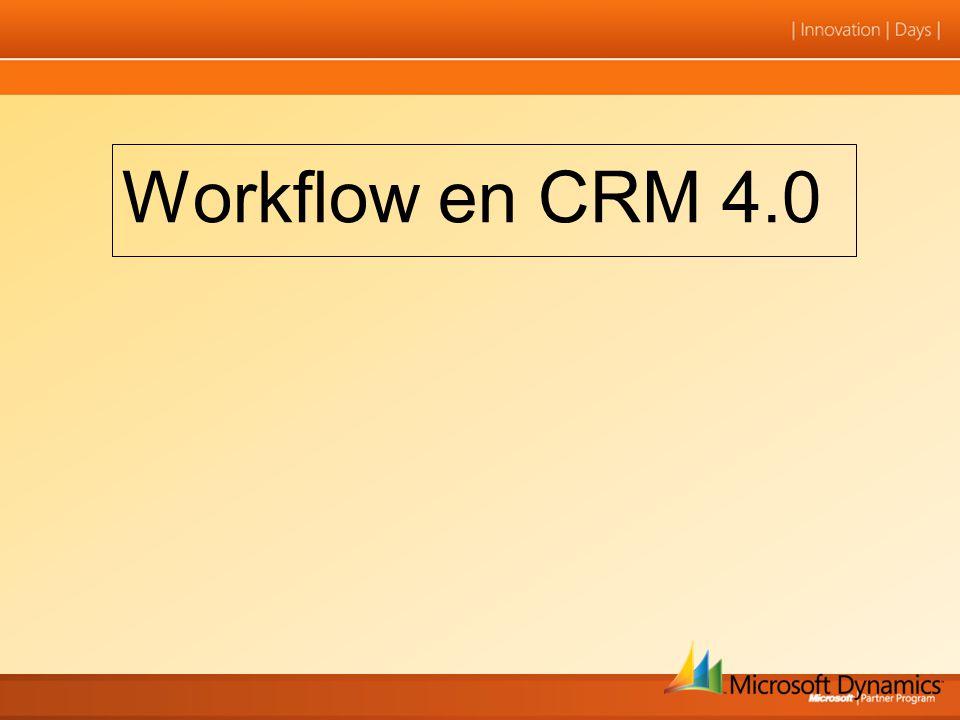 Workflow en CRM 4.0