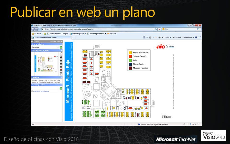 Publicar en web un plano Diseño de oficinas con Visio 2010