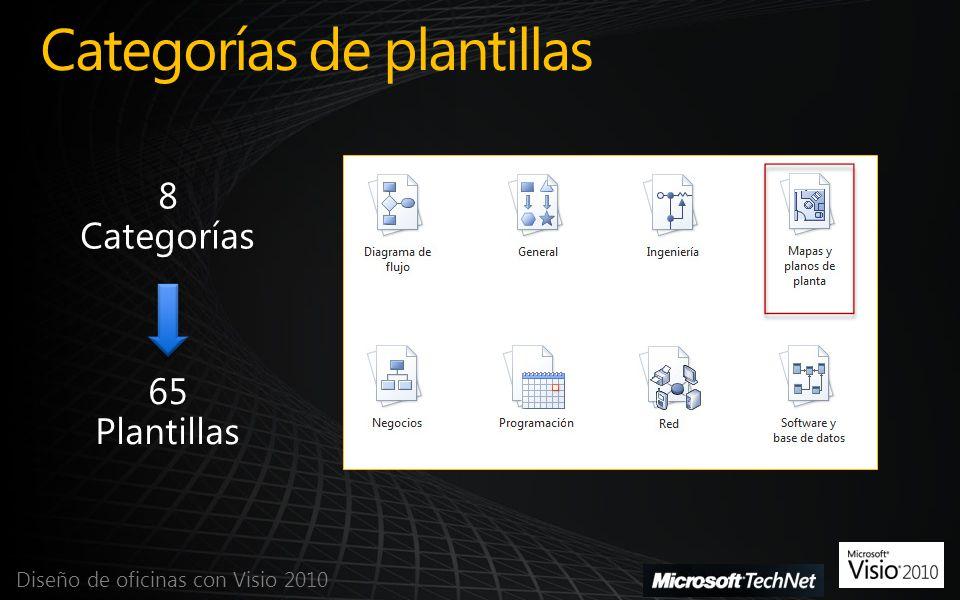 Categorías de plantillas Diseño de oficinas con Visio 2010