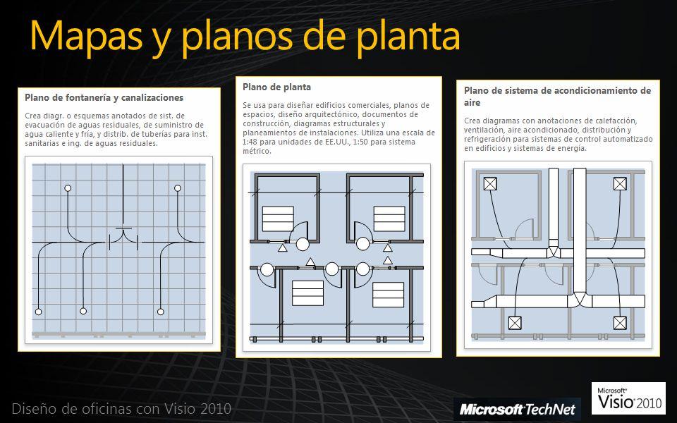 Convertir Dibujo de CAD Diseño de oficinas con Visio 2010