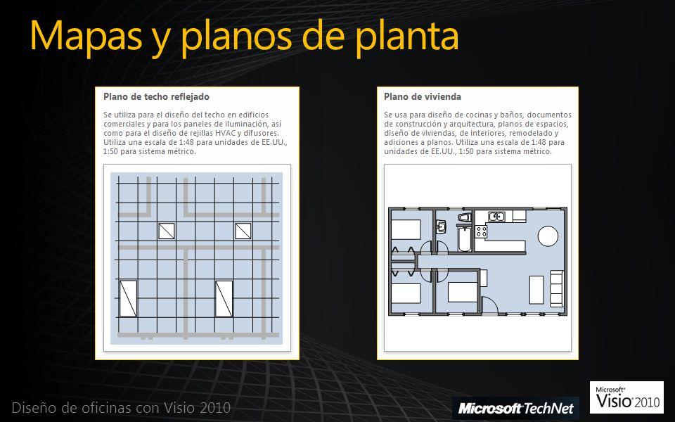 Mapas y planos de planta Diseño de oficinas con Visio 2010
