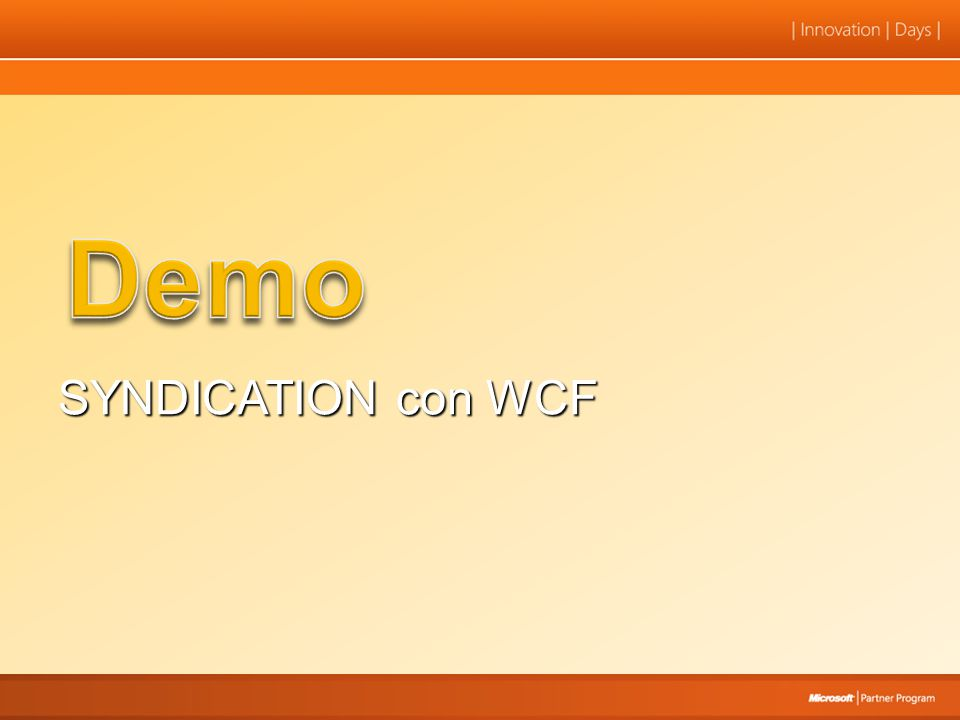 SYNDICATION con WCF